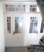 Restaurierte Tür